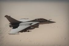 Rafale Qatar en vol.     /     Rafale Qatar in flight.